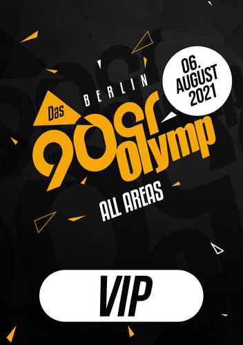 90erOlymp Berlin 2021 // VERSCHOBEN limitiertes VIP-Ticket // 06.August 2021